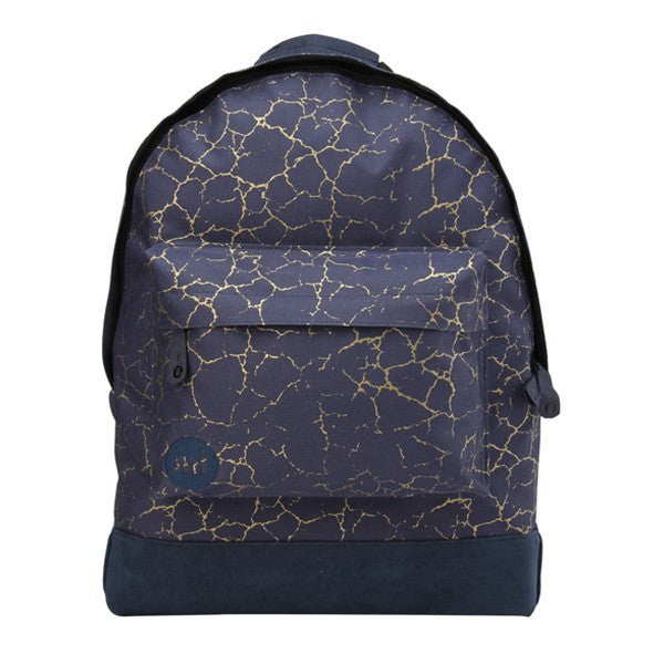 Blue Gold Crackled Effect Backpack - Main View