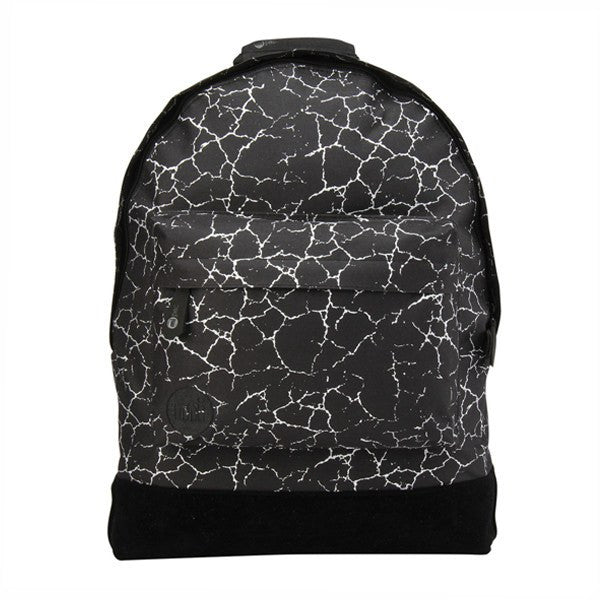Black Silver Crackled Effect Backpack - Main View