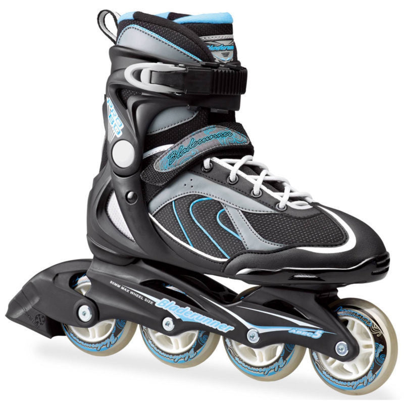 Bladerunner Pro 80 Black Blue Womens Inline Skates - Main View