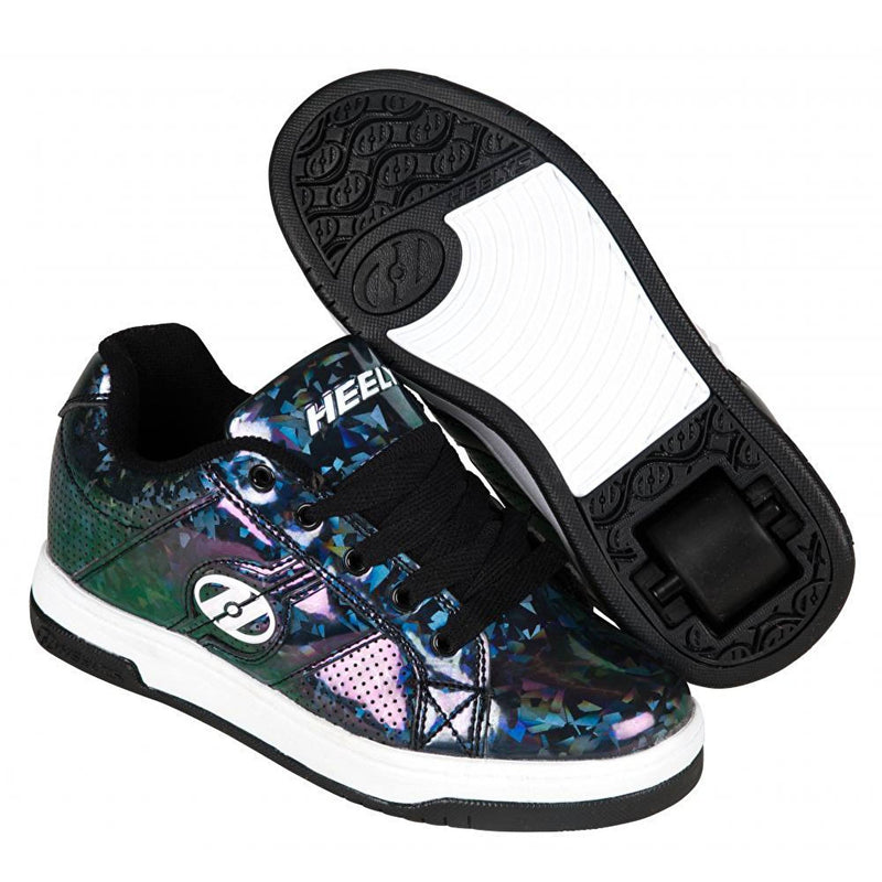 Black Hologram One Wheel Heelys - Main View