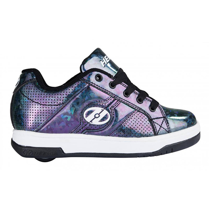 Black Hologram One Wheel Heelys - Side View