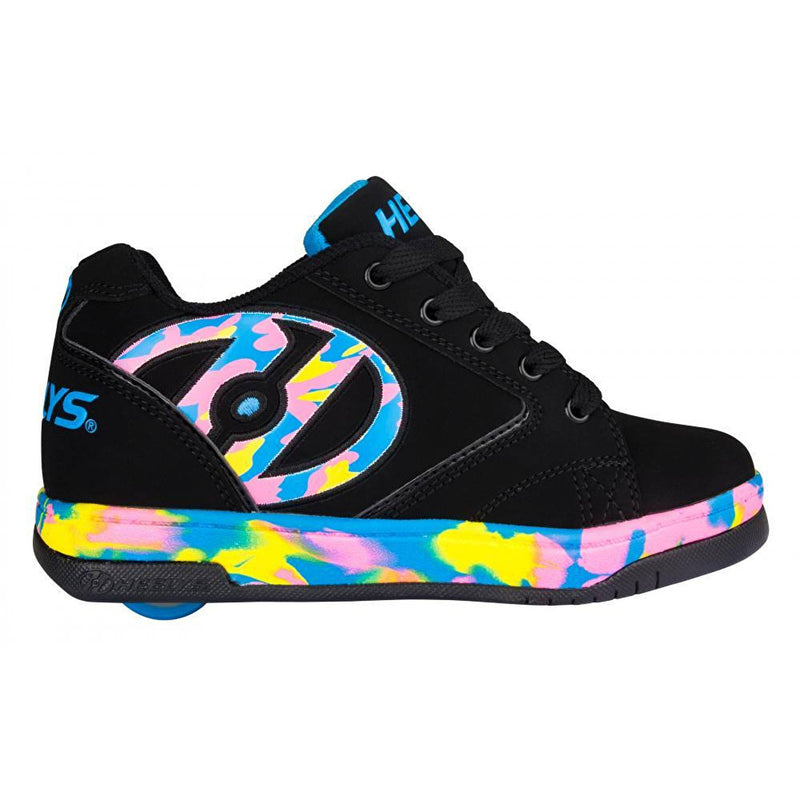 Black Pink Confetti Heelys Side View