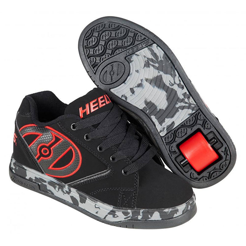 Black Red One Wheel Heelys - Main View