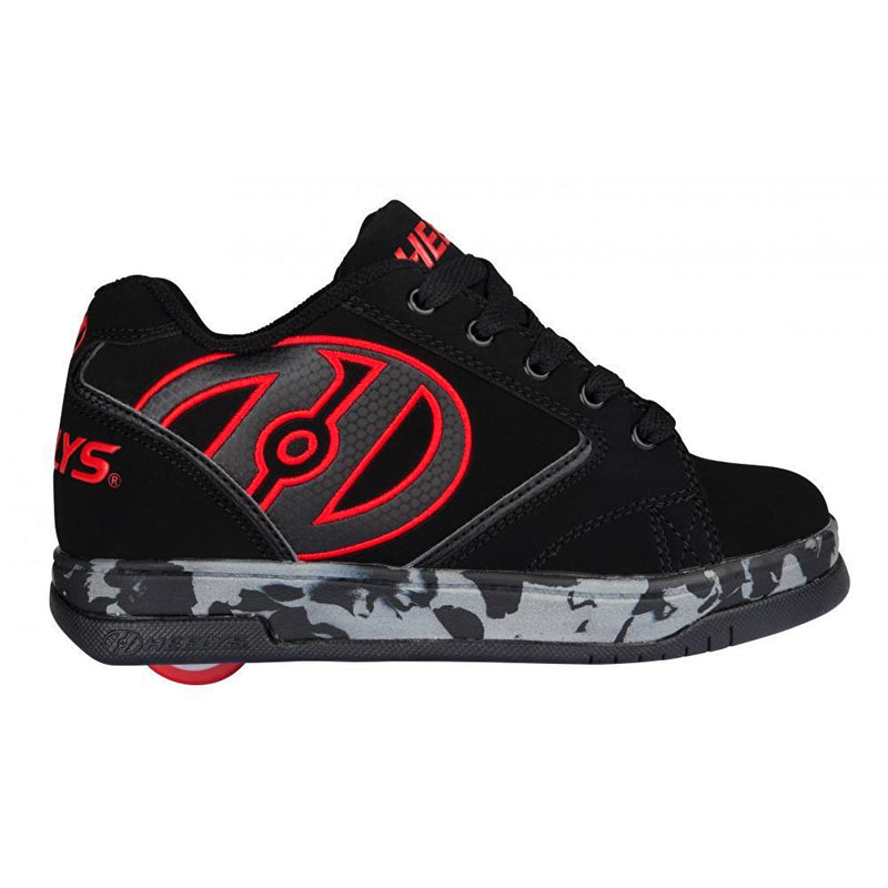 Black Red One Wheel Heelys - Side View