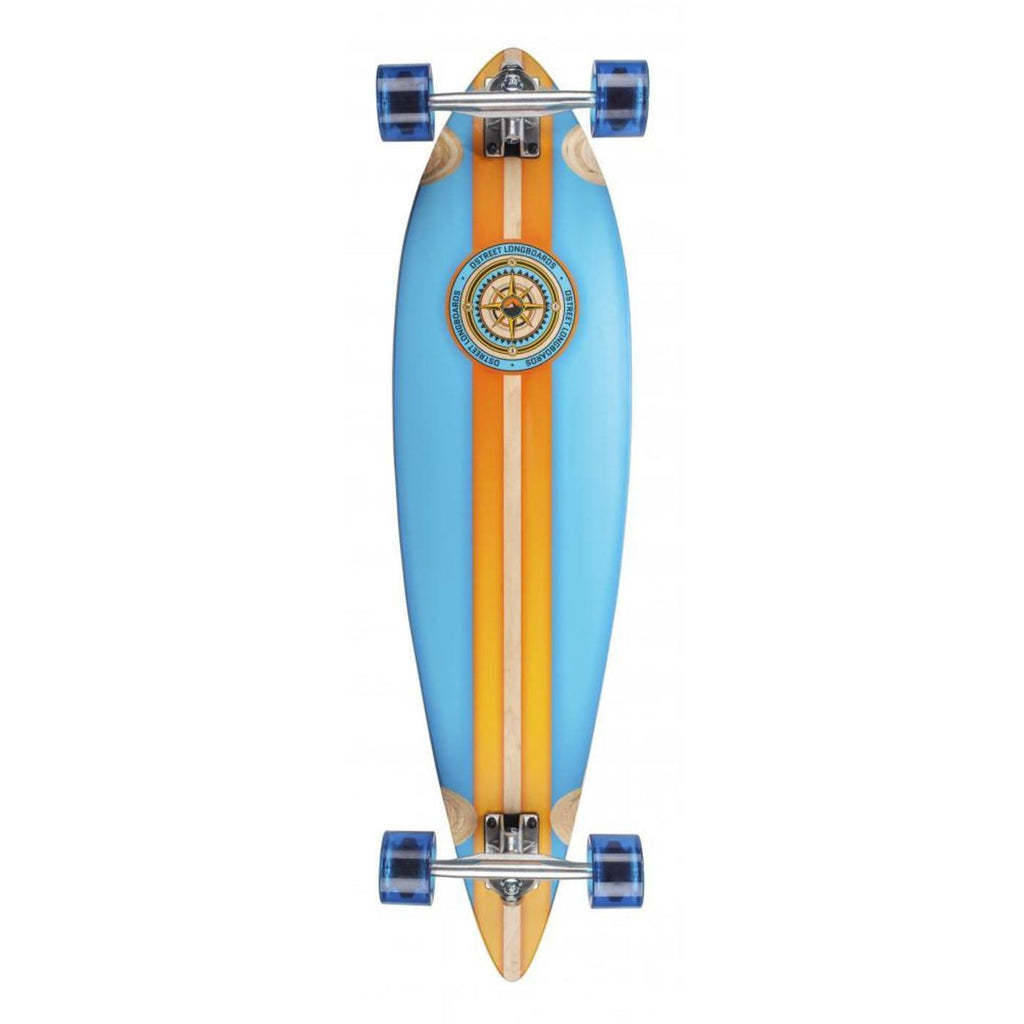 D-STREET BLUE ORANGE LONGBOARD - MAIN VIEW