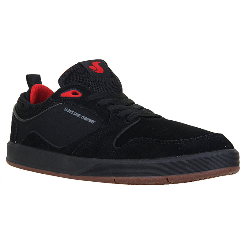DVS IGNITION BLACK RED SKATE SHOE - MAIN VIEW
