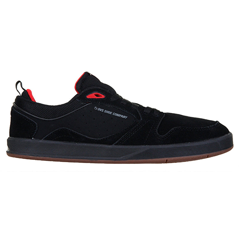 DVS IGNITION BLACK RED SKATE SHOE - RIGHT SIDE VIEW