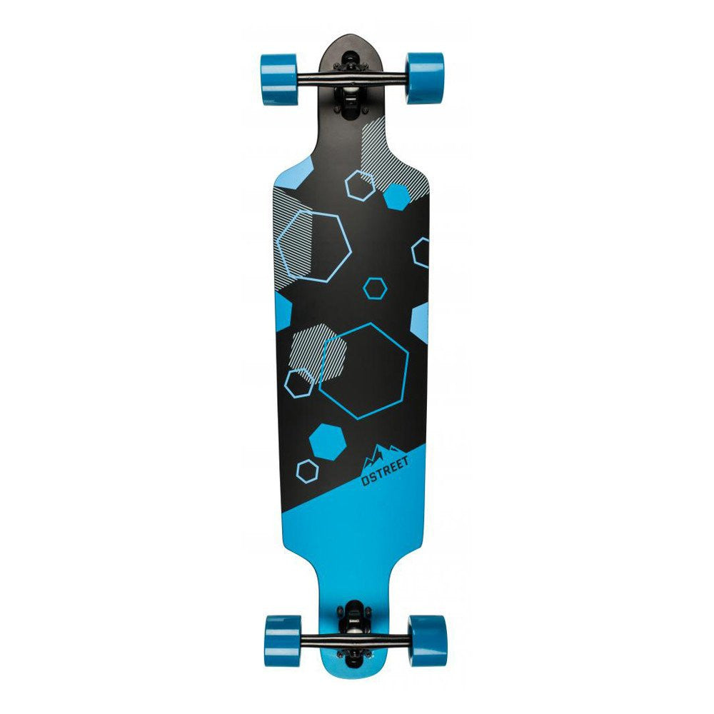 D Street Polygon Hex Drop Through Longboard 37.5""