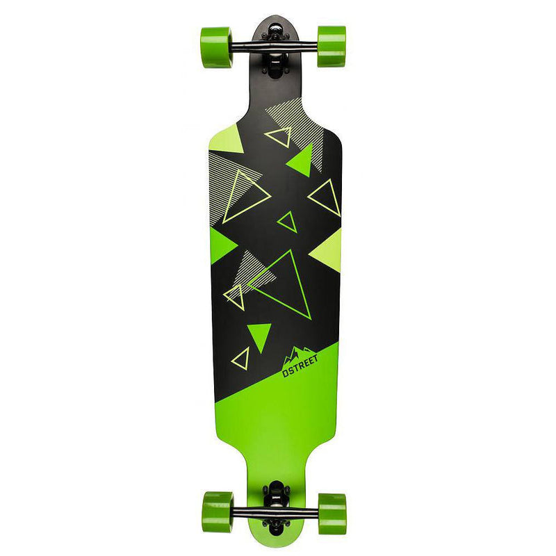 D-Street Polygon Tri Drop Through Complete Longboard Green 39""