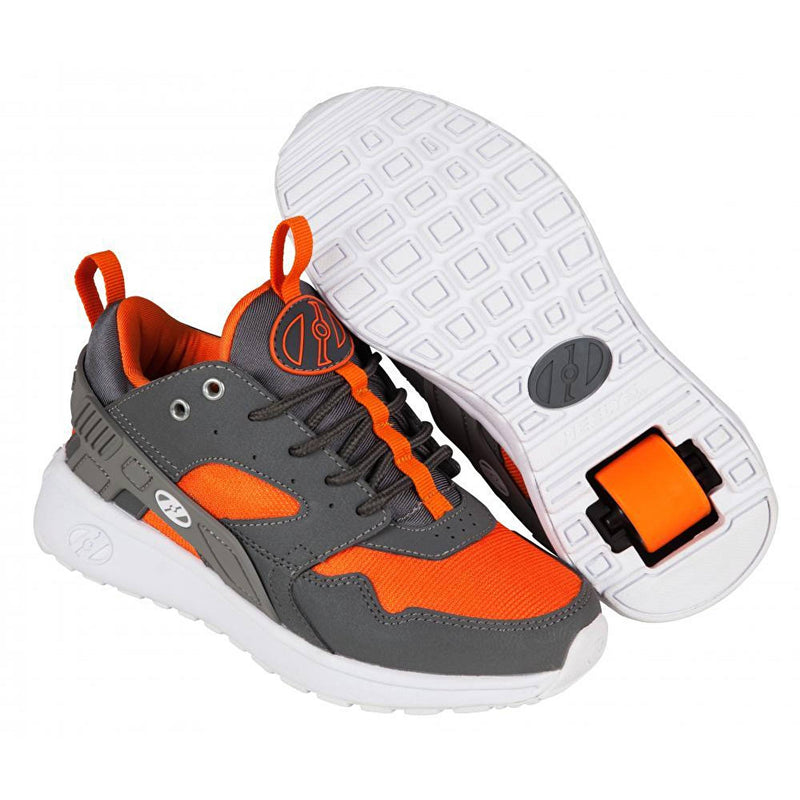 Grey Orange One Wheel Heelys - Main View