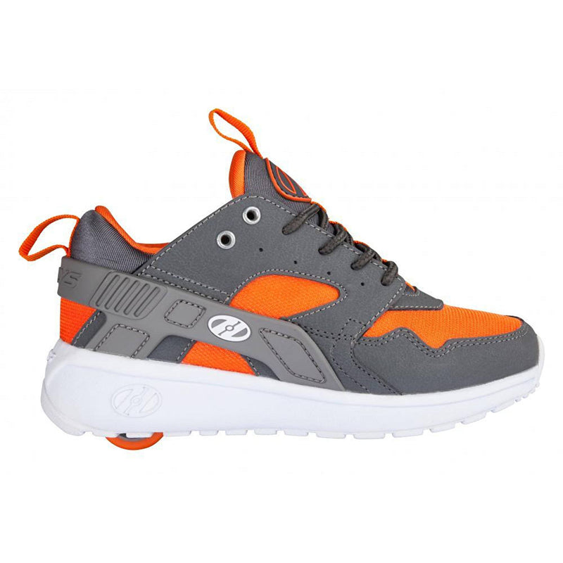 Grey Orange One Wheel Heelys - Side View