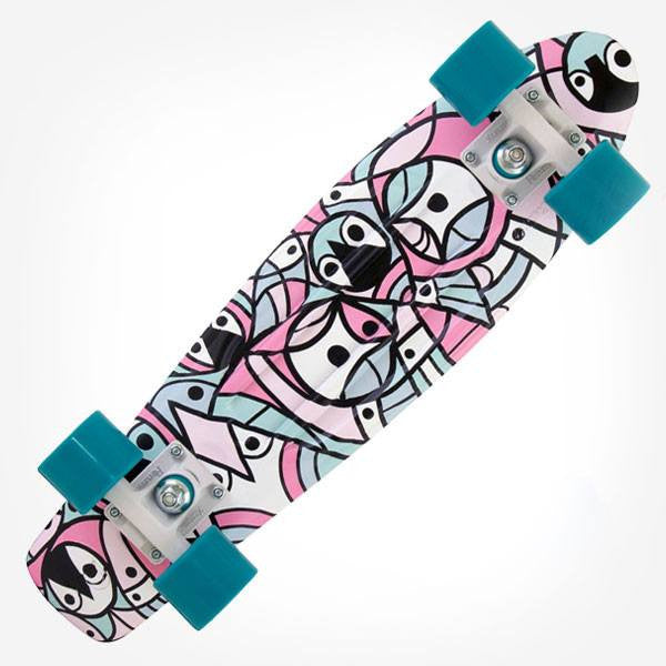 "Penny x Don Pendleton 22"" Pink Blue Complete Cruiser Skateboard - Main View"