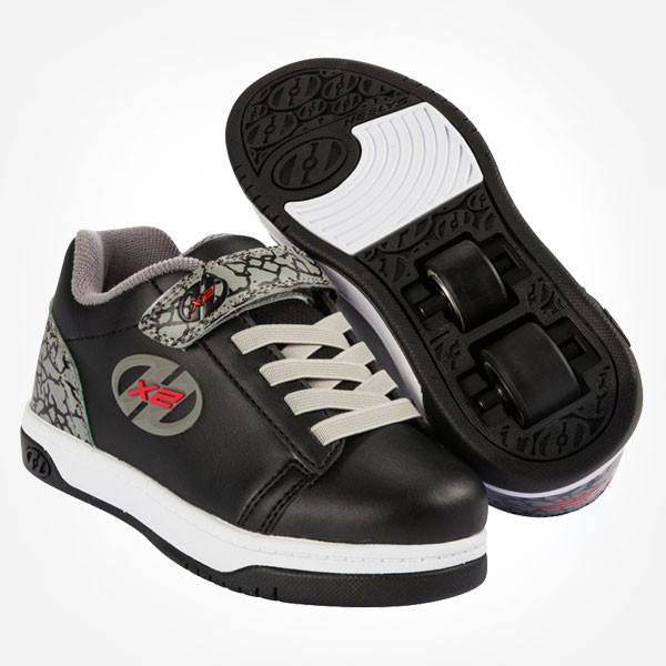 Heelys Dual Up Black Grey Elephant Two Wheel Heelys - Main View