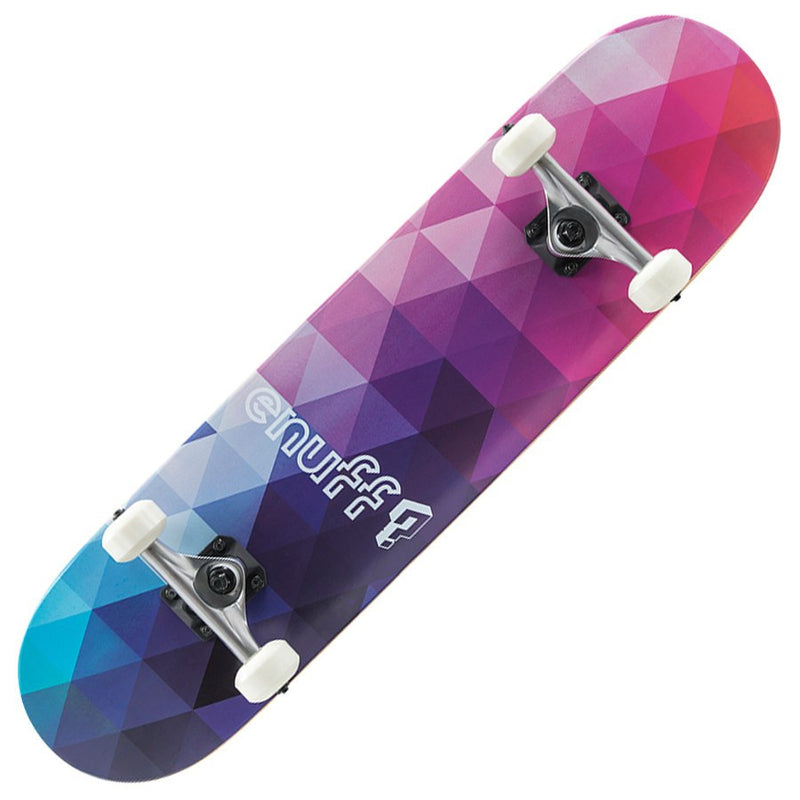 Enuff Geometric Purple Skateboard - Main View