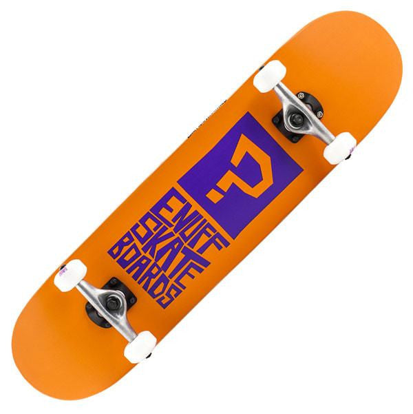 Enuff Block Icon Orange Complete Skateboard - Main View
