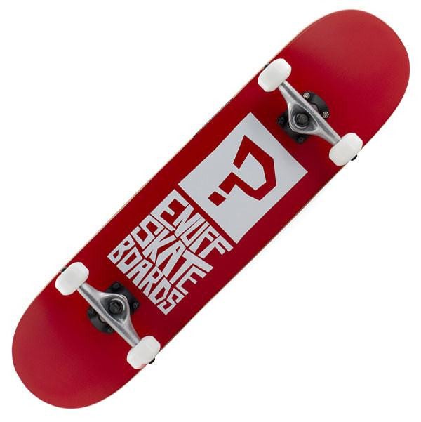 Enuff Block Icon Red Complete Skateboard - Main View