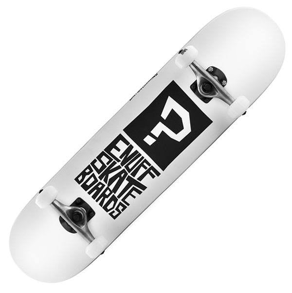 Enuff Block Icon White Complete Skateboard - Main View