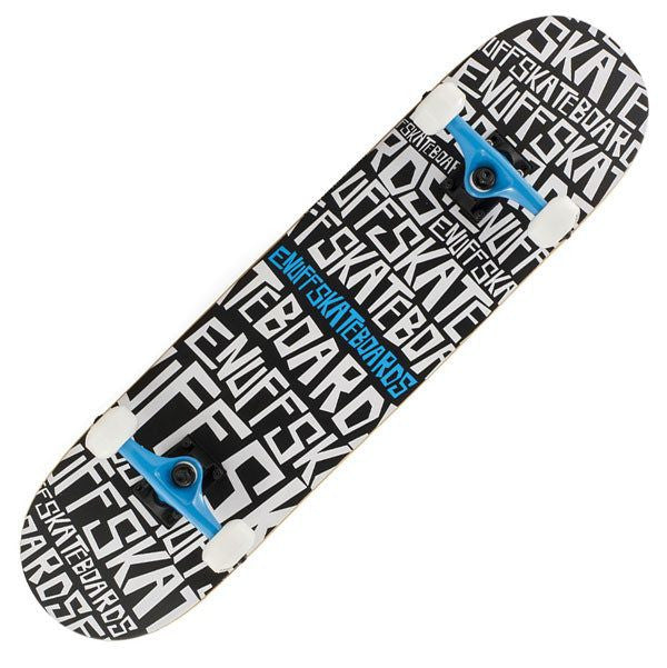 Enuff Scramble Black White Complete Skateboard - Main View