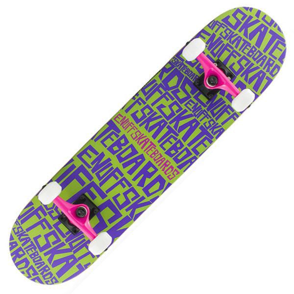 Enuff Scramble Green Purple Complete Skateboard - Main View