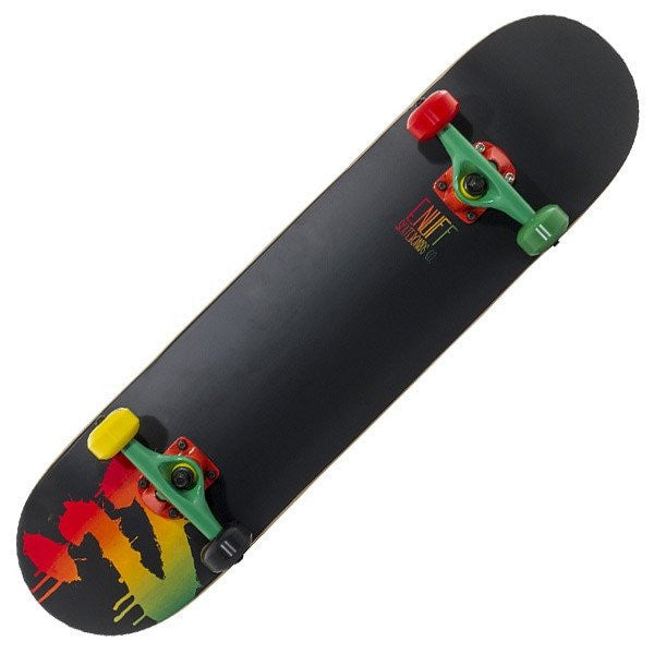 Enuff Logo Rasta Mini Complete Skateboard - Main View