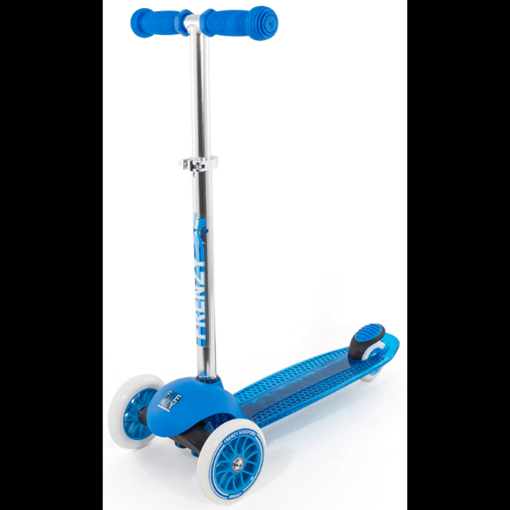FRENZY BLUE 3 WHEEL SCOOTER - FRONT VIEW