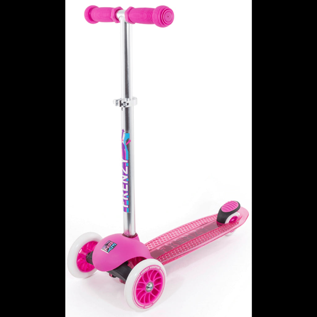 FRENZY PINK 3 WHEEL SCOOTER - FRONT VIEW