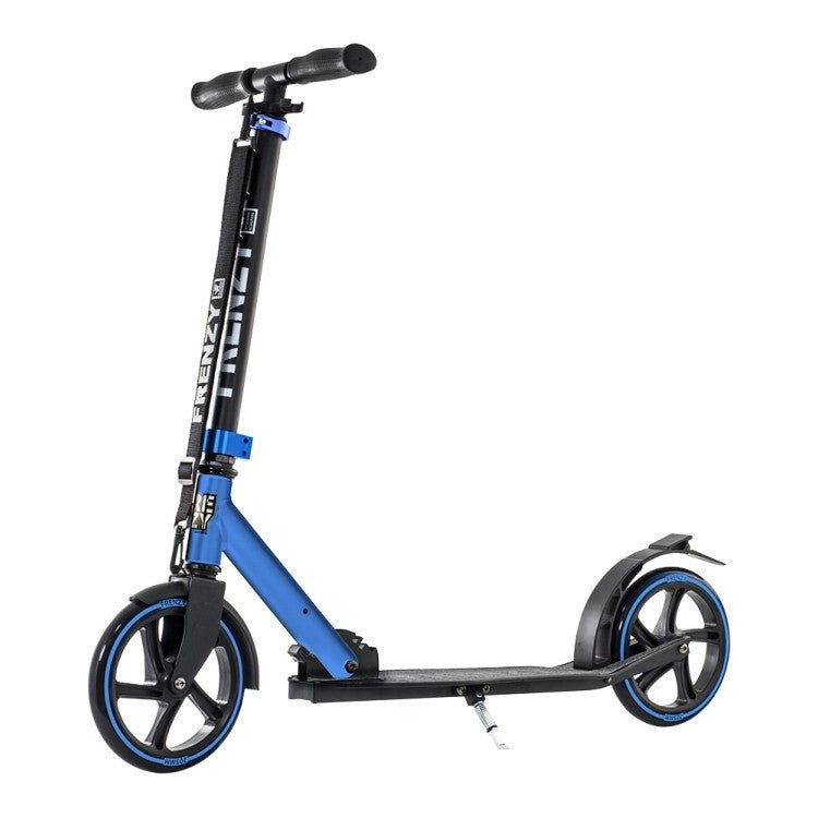 Frenzy FR205 205mm Blue Recreational Push Scooter Front View