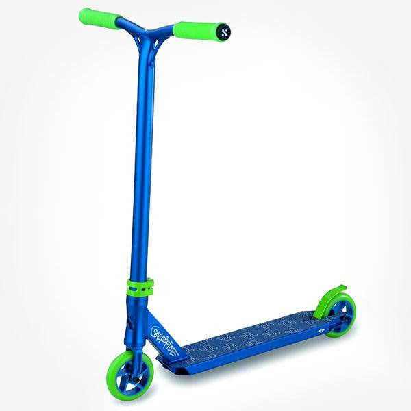 Sacrifice Flyte 100 Blue Green Stunt Scooter - Main View