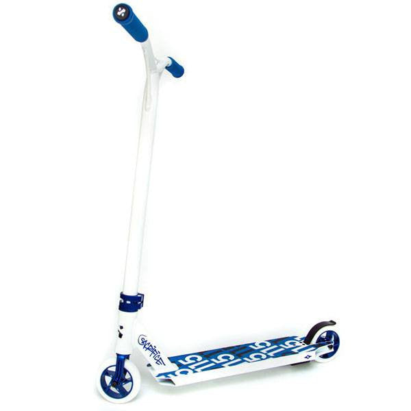 Sacrifice Flyte 115 White Blue Stunt Scooter - Main View