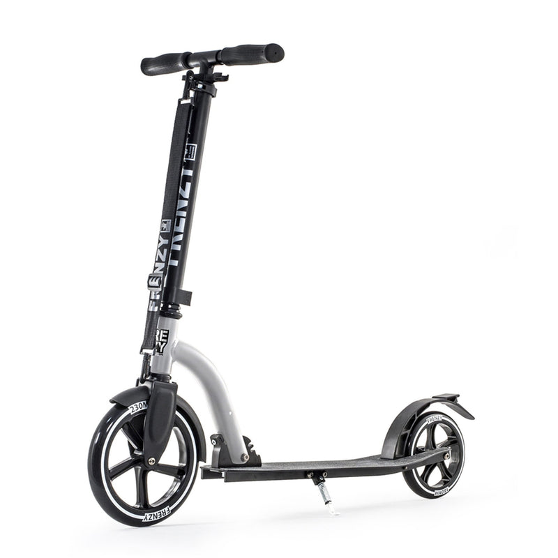 Frenzy FR230 230mm Silver Recreational Push Scooter Front View