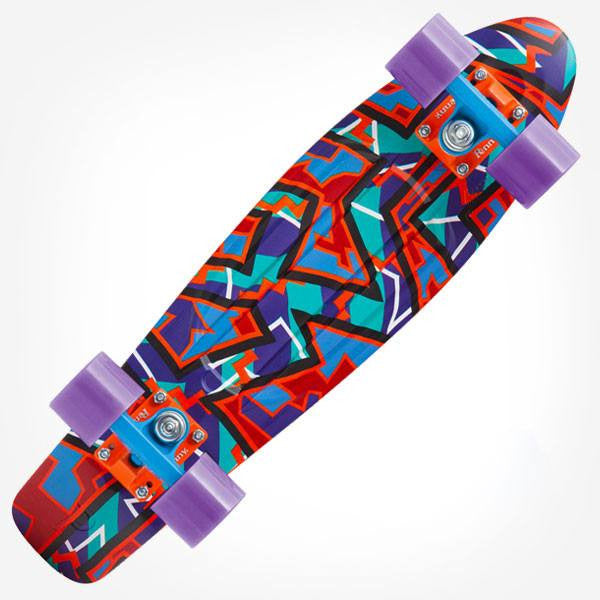 "Penny 22"" Fresh Prints Spike Complete Cruiser Skateboard - Main View"