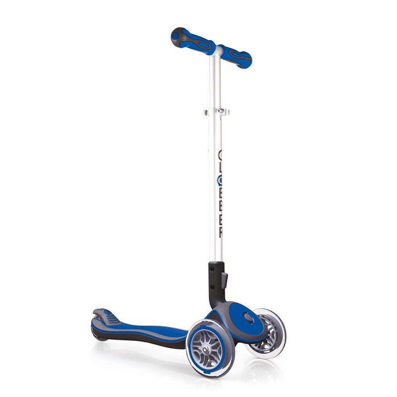 Globber Fold Up Kids 3-Wheel Scooter - Dark Blue