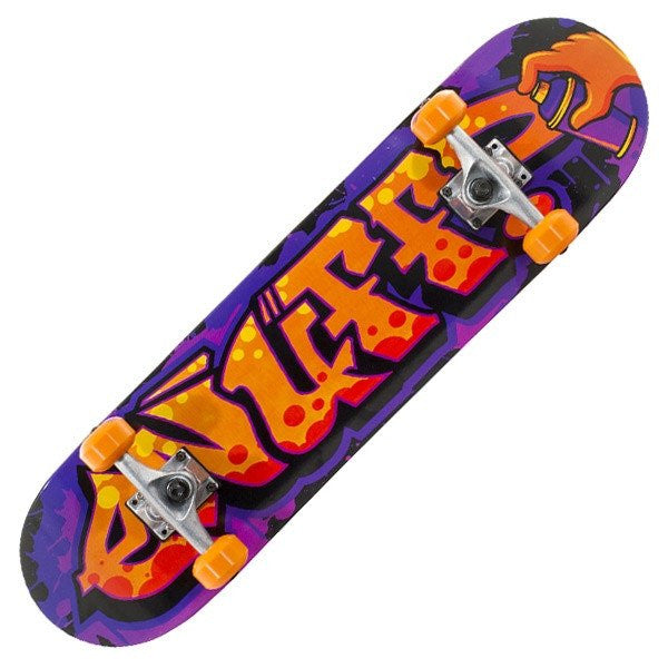 Enuff Graffiti II Orange Purple Mini Complete Skateboard - Main View