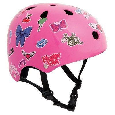 SFR Essentials Pink Sticker Adjustable Skate Bike Helmet - Main View