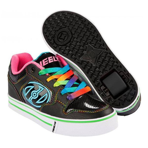 Heelys Motion Plus - Black/Hot Pink/Rainbow - Main View