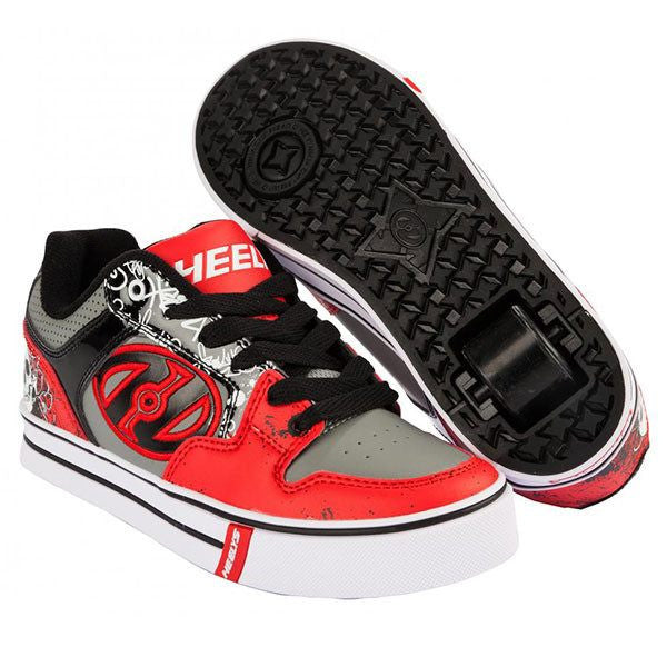 Heelys Motion Plus - Red/Black/Grey Skulls One Wheel Heelys - Main View