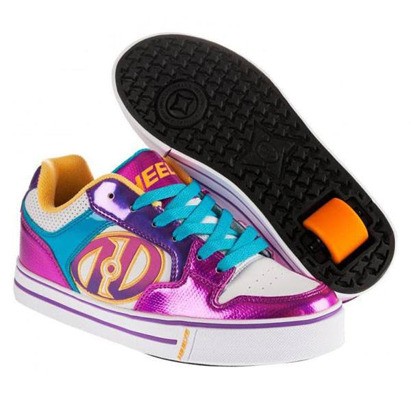 Heelys Motion Plus White Fuchsia Multi One Wheel Heelys - Main View