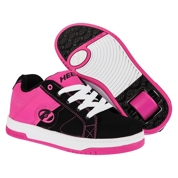 Heelys Split Black Fuchsia Pink Girls One Wheel Heelys - Main View
