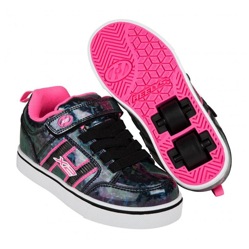 Black Hologram Girls Heelys - Main View