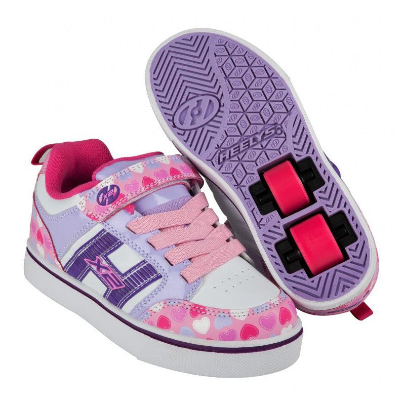 Purple Hearts Girls Two Wheel Heelys - Main View