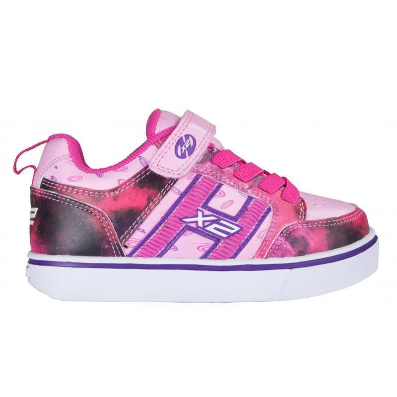 Pink Space Girls Two Wheel Heelys - Side View