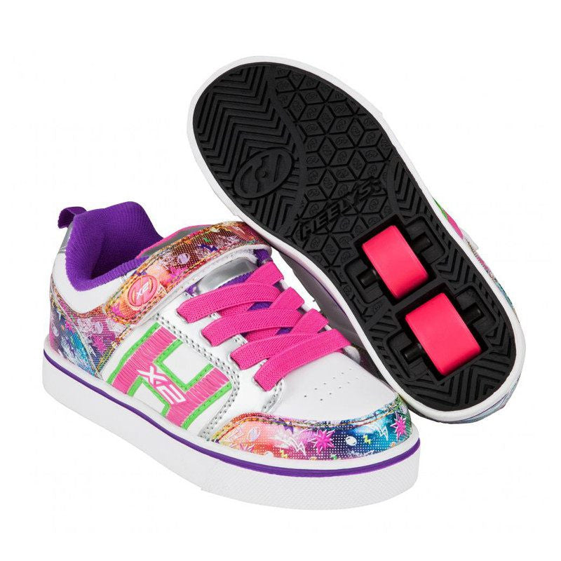 White Rainbow Girls Two Wheel Heelys - Main View