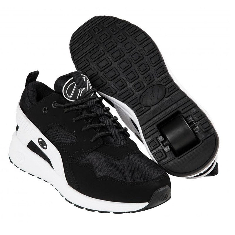 Black White One Wheel Heelys - Main View