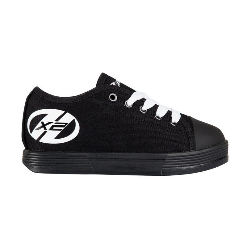 Black Two Wheel Heelys - Side View