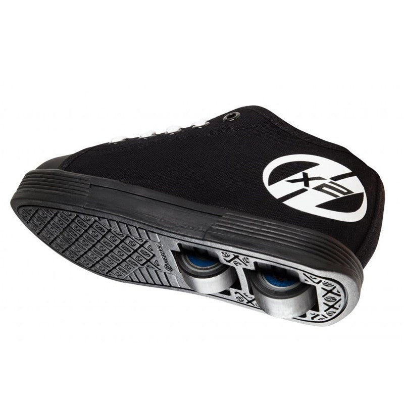Black Two Wheel Heelys - Underside View