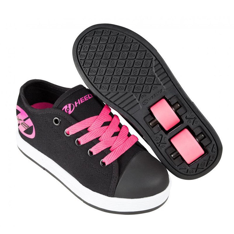 Black Pink Girls Two Wheel Heelys - Main View