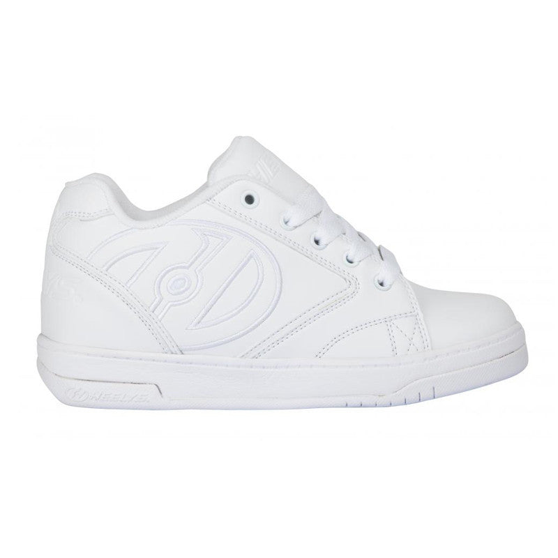 White One Wheel Heelys - Side View