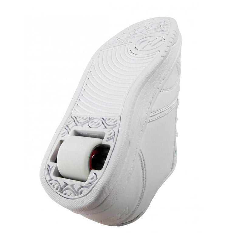 White One Wheel Heelys - Underside View