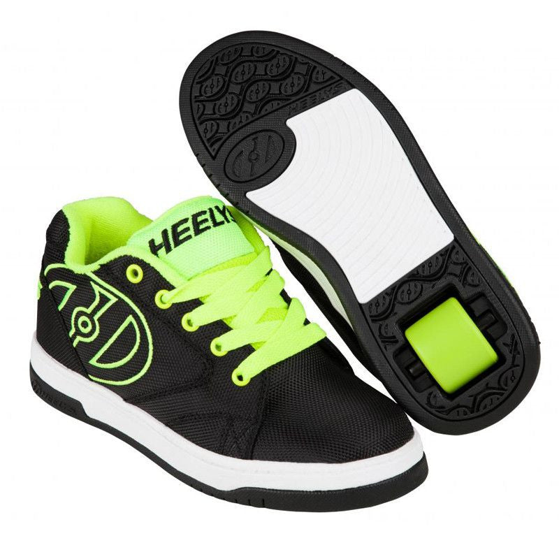 Black Yellow Boys One Wheel Heelys - Main View