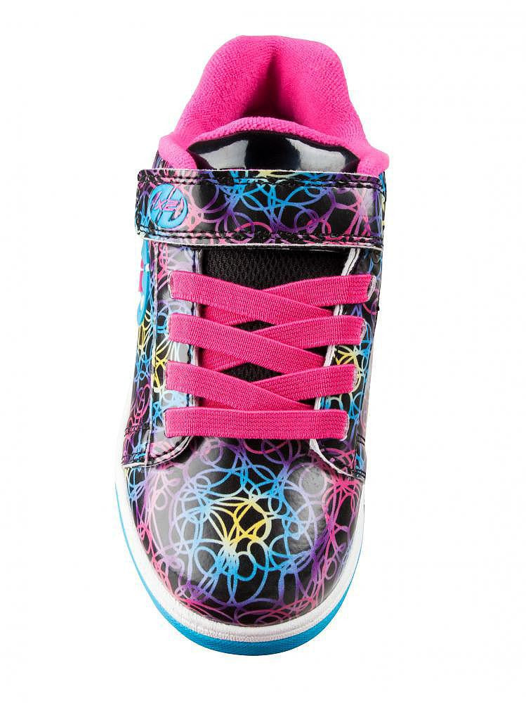 Heelys Dual Up Black/Cyan/Neon/Multi roller shoes - topside view